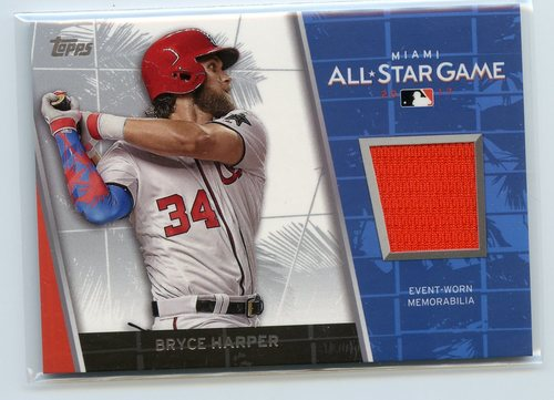 Photo of 2017 Topps Update All Star Stitches #ASRBH Bryce Harper