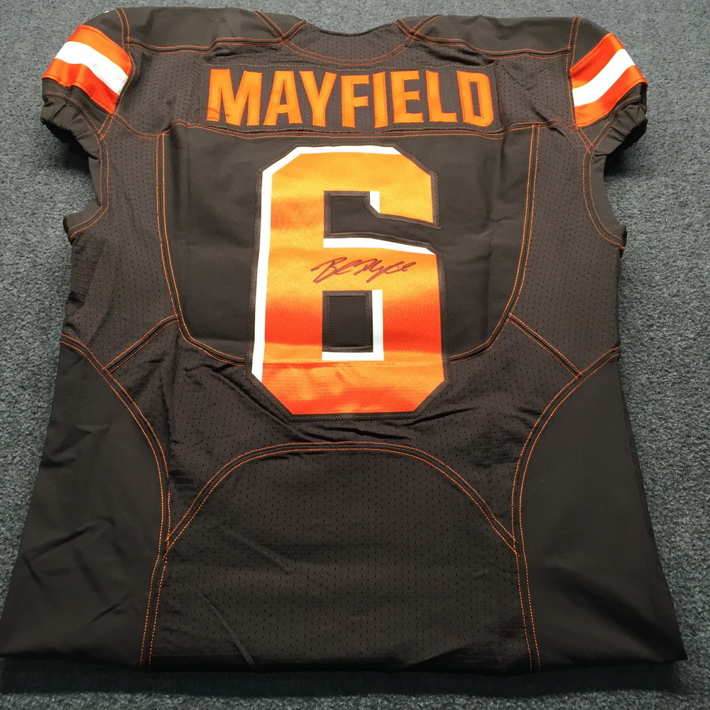 more photos 34c95 8d125 NFL Auction | NFL - Browns Baker Mayfield Signed Authentic ...