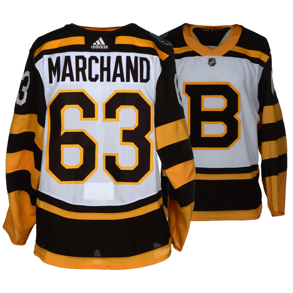 Brad Marchand Boston Bruins Game-Worn 2019 NHL Winter Classic Jersey