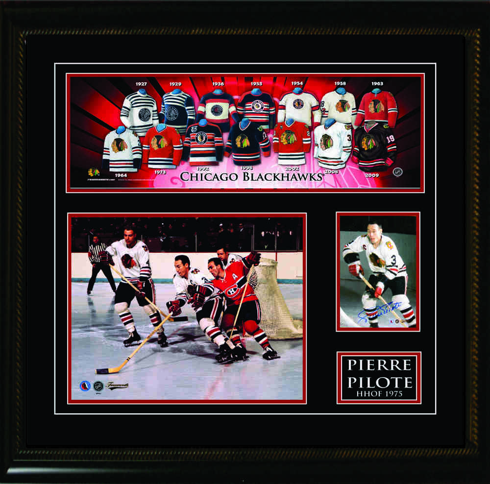 the best attitude a3176 75d3b Pierre Pilote Signed 3.5x5 W/8x10 / Jersey Print - NHL Auctions