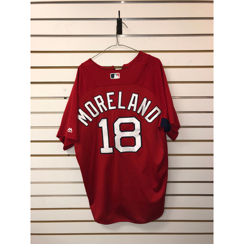 Photo of Mitch Moreland Team-Issued Home Batting Practice Jersey