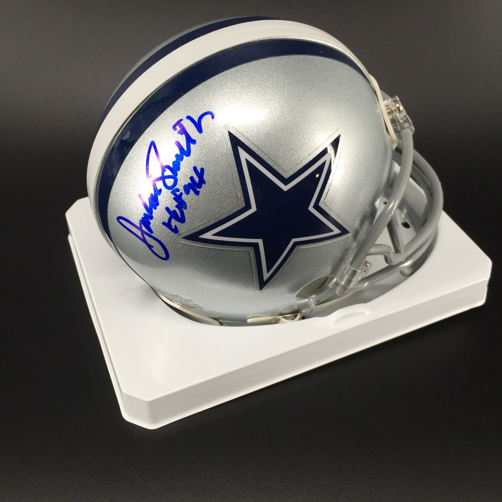 HOF - Cowboys Jackie Smith Signed Mini Helmet