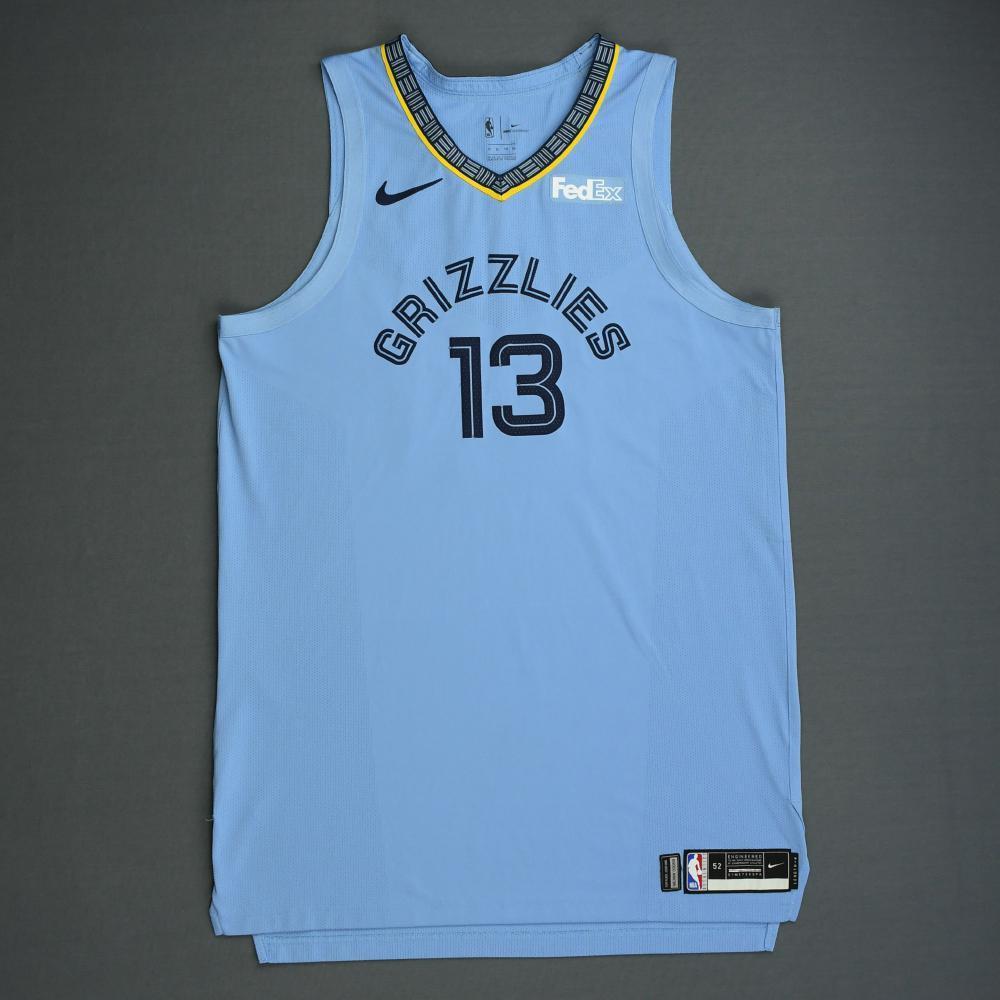 Jaren Jackson Jr. - Memphis Grizzlies - 2018-19 Season - Game-Worn Blue Statement Edition Jersey