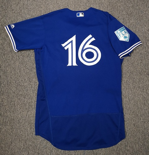 Photo of Authenticated Game Used Spring Training 2019 Jersey - #16 Freddy Galvis (Mar 18, 19: 0-for-4. Mar 26, 19: 1-for-2). Size 44