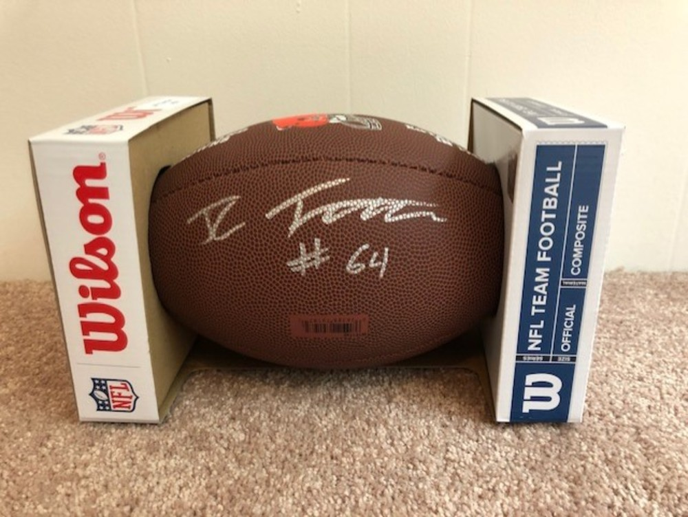 CLEVELAND BROWNS - JC TRETTER AUTOGRAPHED FOOTBALL