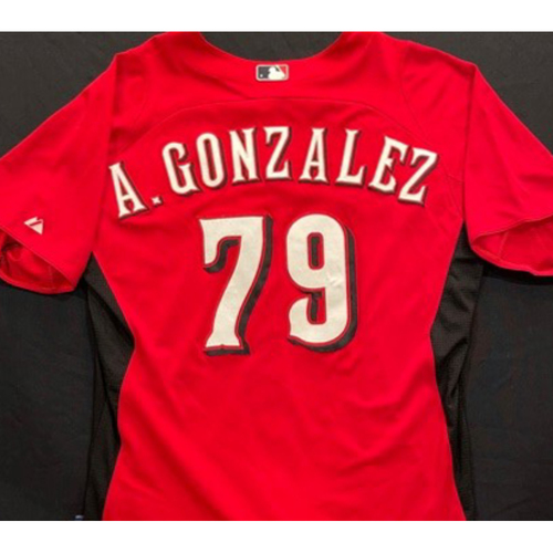 Photo of A. GONZALEZ -- Authentic Reds Jersey -- $1 Jersey Auction -- $5 Shipping -- Size 46 (Not MLB Authenticated)