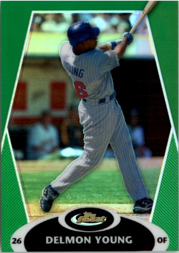 Photo of 2008 Finest Refractors Green #48 Delmon Young