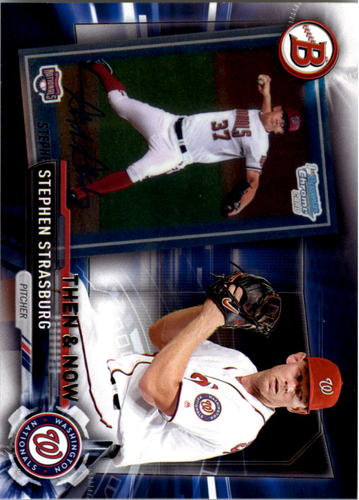 Photo of 2017 Topps Bowman Then and Now #BOWMAN11 Stephen Strasburg