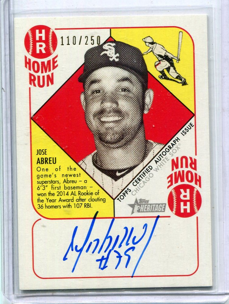 2015 Topps Heritage '51 Collection Autographs Jose Abreu 110/250