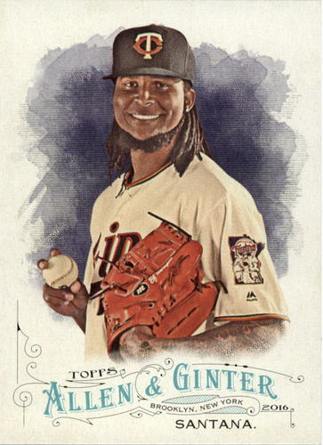Photo of 2016 Topps Allen and Ginter #154 Ervin Santana -- Twins post-season