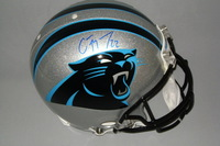 PANTHERS - CHRISTIAN MCCAFFREY SIGNED PANTHERS PROLINE HELMET