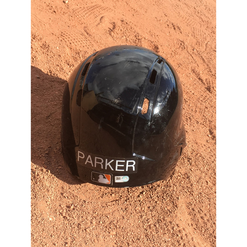 Photo of San Francisco Giants - 2017 Game-Used Spring Training Helmet Worn by #6 Jarrett Parker - Size 7 5/8