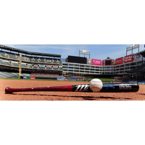 Photo of Adrian Beltre Game-Used Broken Bat And Game-Used Baseball - Both Are Career Hit #3,077, Career RBI #1,652 - 5/8/2018