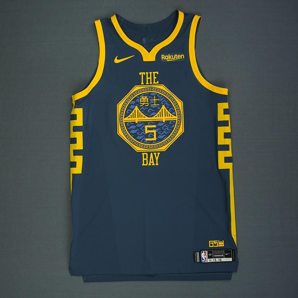 Kevon Looney - Golden State Warriors - Game-Worn City Edition Jersey - 2018-19 Season