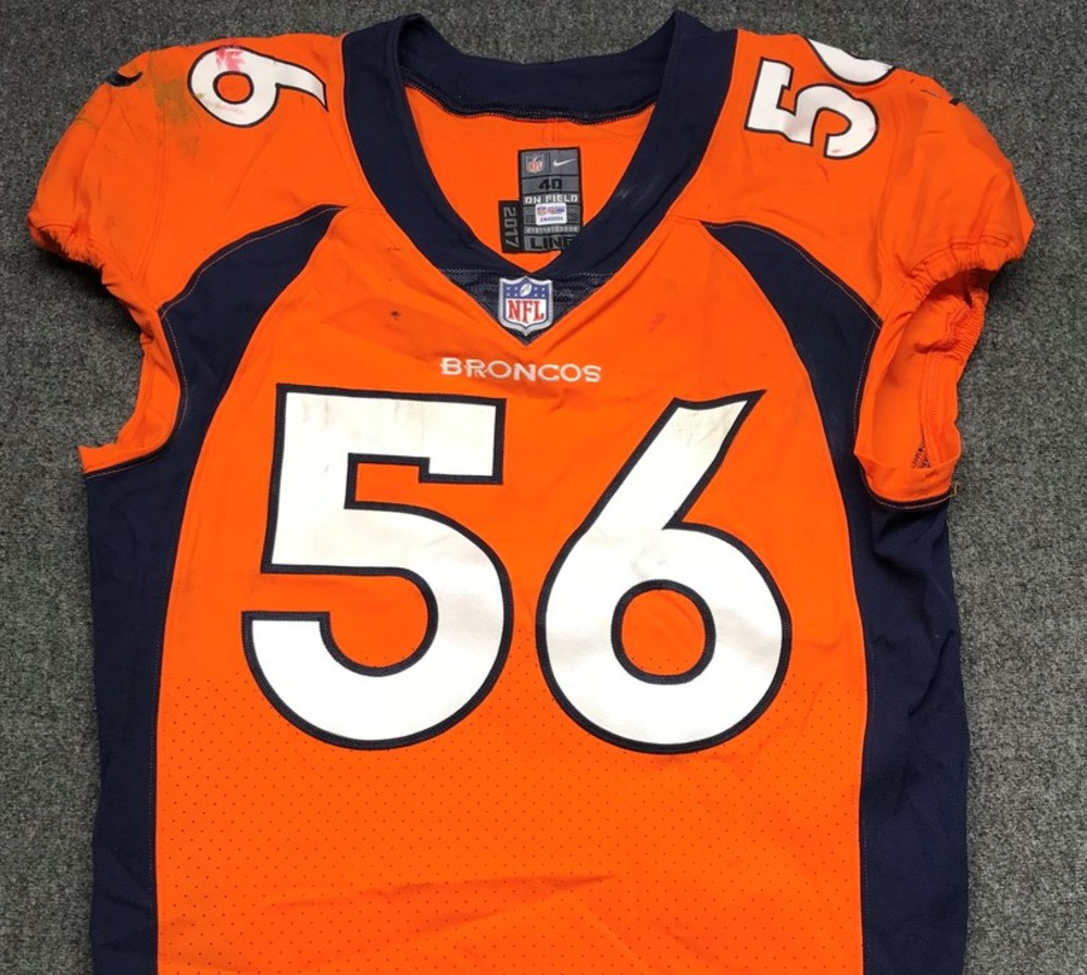 NFL Auction | STS - Broncos Shane Ray game worn Broncos jersey ...