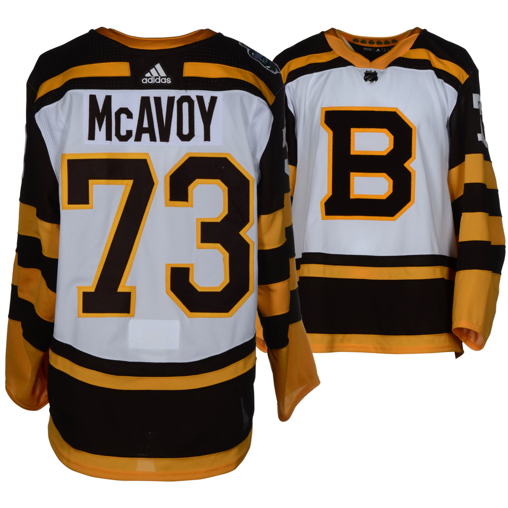 Charlie McAvoy Boston Bruins Player Issued 2019 NHL Winter Classic Jersey