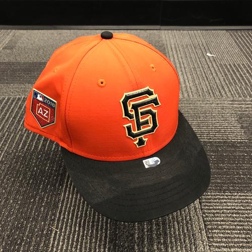 Photo of 2018 Team Issued Orange Spring Training Cap - #40 Madison Bumgarner - Size 7 1/2