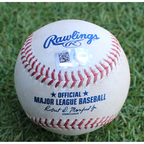 Photo of Game-Used Baseball: Nicholas Castellanos 192nd Career Double (DET @ KC - 6/12/19)
