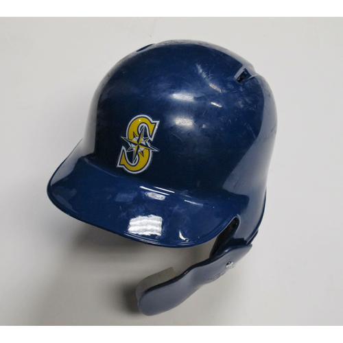 2018 Team-Issued Blue Batting Helmet: Ryon Healy