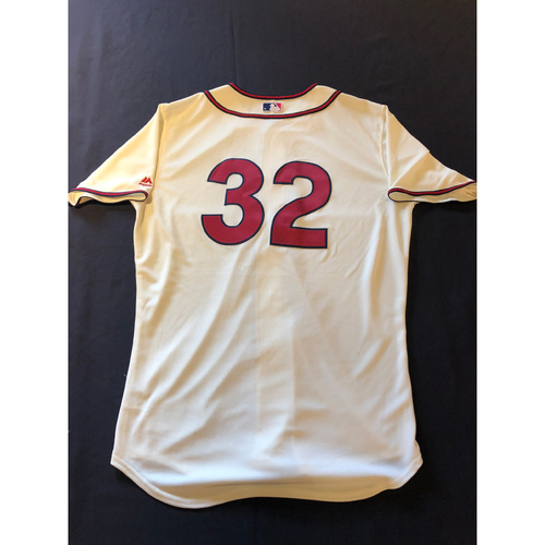 Zach Duke -- Game-Used 1935 Throwback Jersey and Pants -- Rangers vs. Reds on June 15, 2019 -- Jersey Size 46 / Pants Size 35-42-23