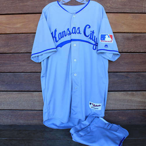 Photo of Game-Used 1969 Throwback Jersey and Pants: Jake Diekman (Jersey Size 48 - KC @ WSH  - 7/6/19)