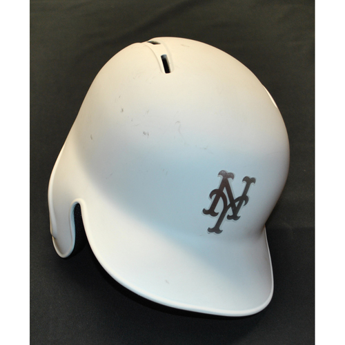 "Photo of Jacob ""deGROM"" deGrom New York Mets Game-Used 2019 Players' Weekend Helmet"