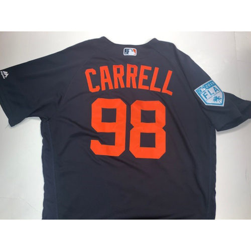 Photo of Team-Issued #98 Carrell Road Spring Training Jersey
