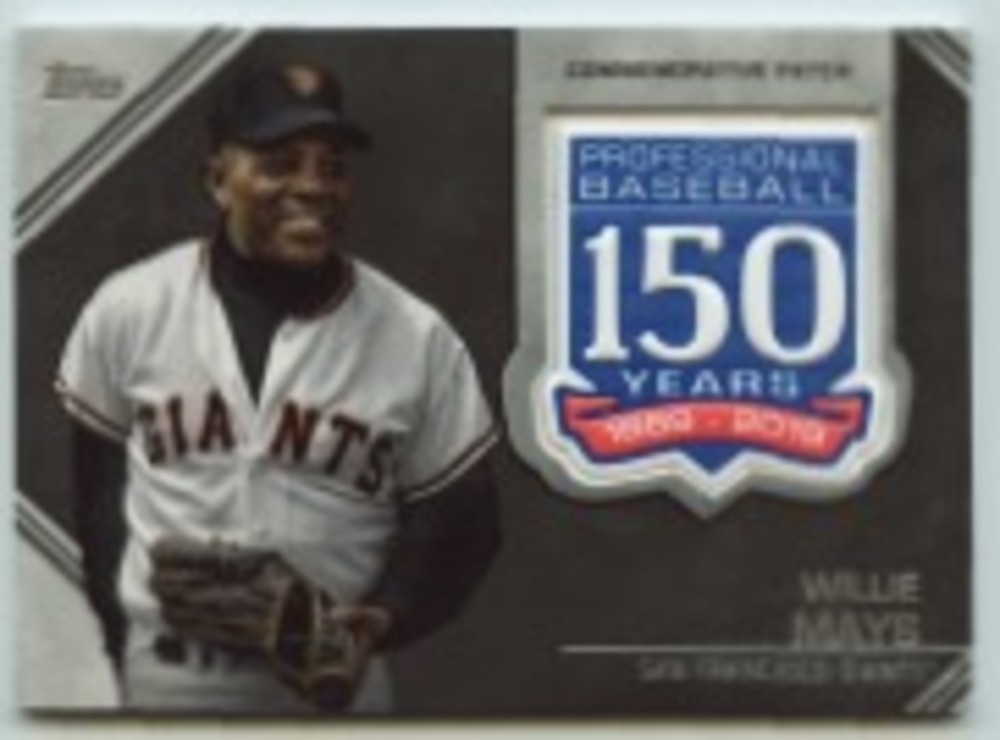 2019 Topps Update 150th Anniversary Manufactured Patches #AMPWM Willie Mays