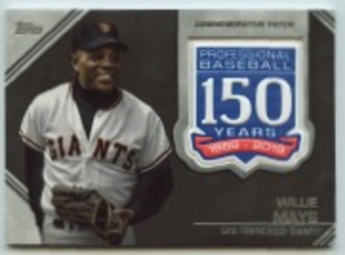 Photo of 2019 Topps Update 150th Anniversary Manufactured Patches #AMPWM Willie Mays