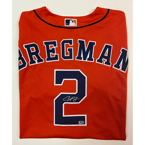 Photo of Alex Bregman Autographed Orange Astros Replica Jersey