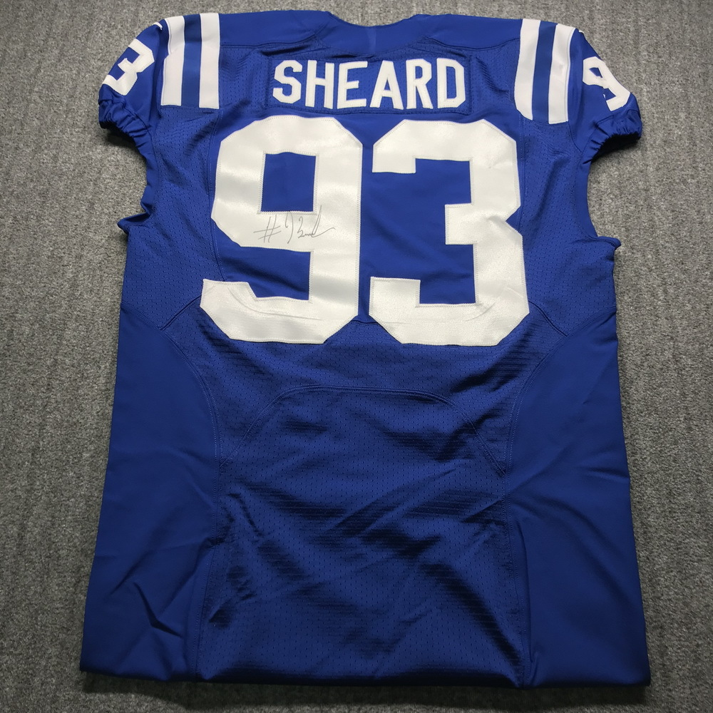 Crucial Catch - Colts Jabaal Sheard Signed Game Issued Jersey Size 48