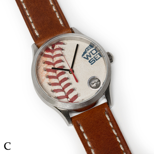 Photo of Tokens & Icons Boston Red Sox 2018 World Series Game Used Baseball Watch W/ Marks - C Game 2