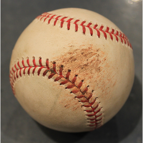 Photo of Game-Used Baseball: Mike Montgomery Pitched Strikeout to Seth Brown (OAK @ KC - 8/27/19)