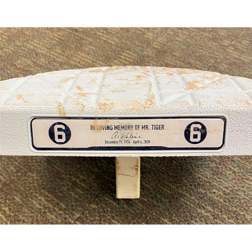 Photo of 2020 Opening Day Game-Used Base with Kaline Base Jewels (MLB AUTHENTICATED)