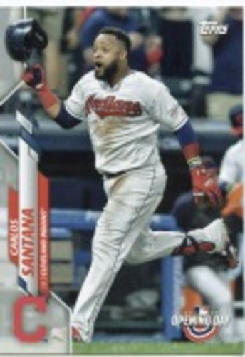 Photo of 2020 Topps Opening Day #142 Carlos Santana
