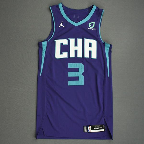 Image of Terry Rozier - Charlotte Hornets - Game-Worn Statement Edition Jersey - 2019-20 NBA Season