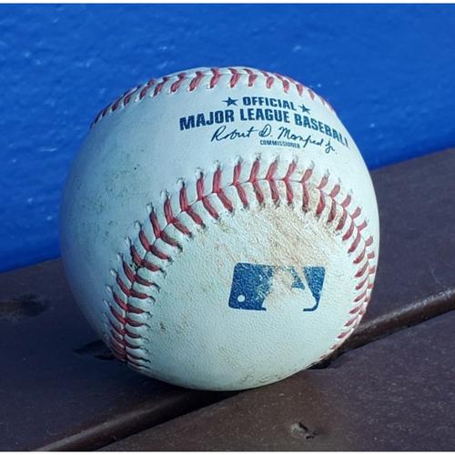 Photo of 2020 Phillies Game-Used Baseball - NL MVP Freddie Freeman Double