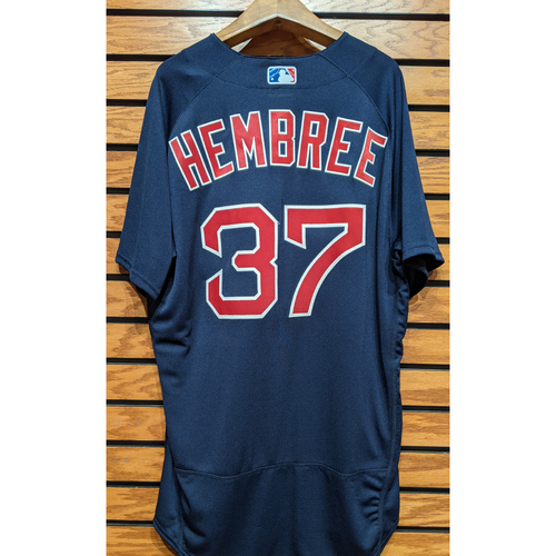 Photo of Heath Hembree #37 Team Issued Navy Road Alternate Jersey