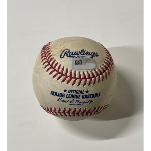 Photo of Game Used Baseball - 8/11/2020 Jason Heyward RBI Single