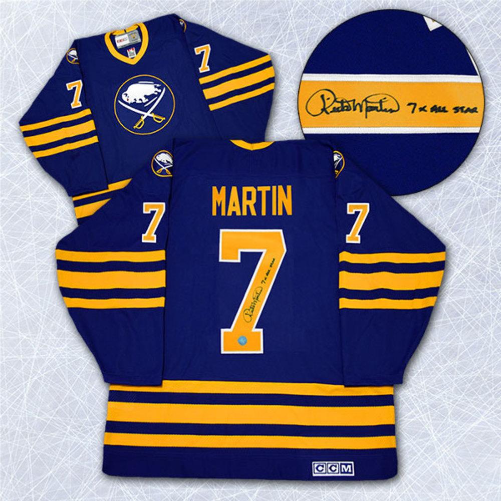 Rick Martin Buffalo Sabres Autographed 7X All Star Retro CCM Hockey Jersey