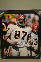 HOF - FALCONS CLAUDE HUMPHREY SIGNED 11X14 FRAMED PICTURE