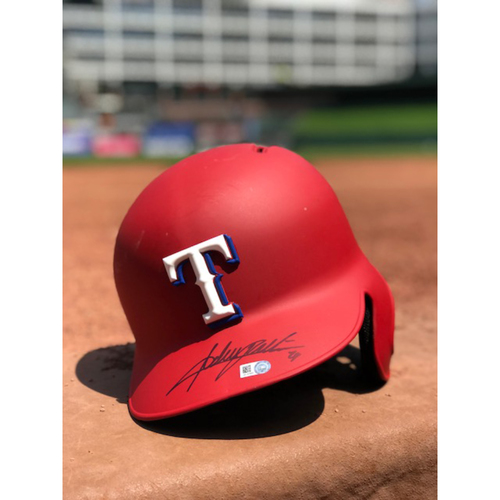 Photo of Adrian Beltre Autographed Authentic Matte Red Batting Helmet