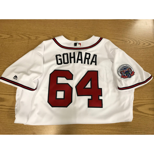 Photo of Luiz Gohara 2017 Game-Used Home White Jersey - Rookie Season