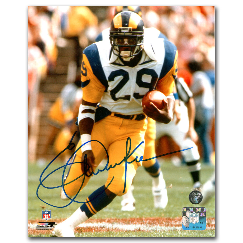 Eric Dickerson Autographed Los Angeles Rams 16X20 Photo