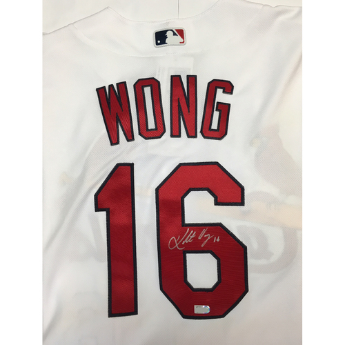 Photo of Kolten Wong Autographed Cardinals Jersey