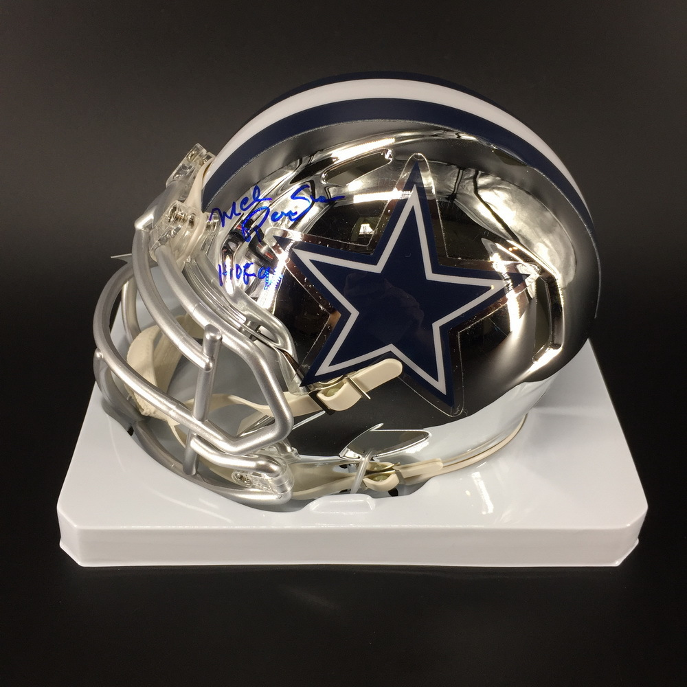 HOF - Cowboys Mel Renfro Signed Chrome Mini Helmet