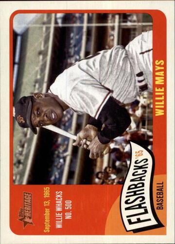 Photo of 2014 Topps Heritage Baseball Flashbacks #BFWM Willie Mays
