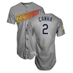Photo of Mark Canha #2 Las Vegas Aviators 2019 Road Jersey