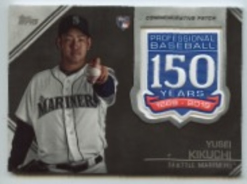 Photo of 2019 Topps Update 150th Anniversary Manufactured Patches #AMPYK Yusei Kikuchi