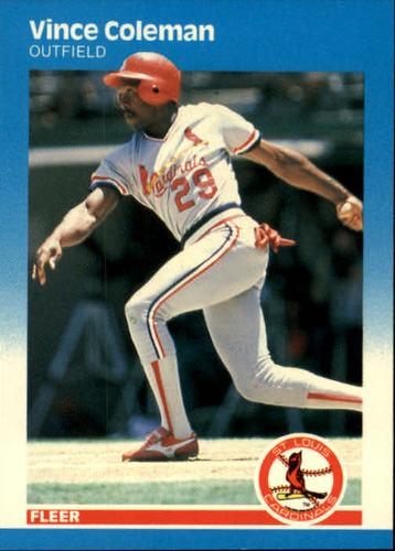 Photo of 1987 Fleer #290 Vince Coleman